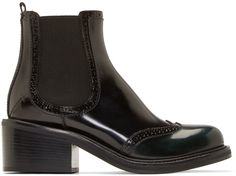 Costume National - Black Leather Ankle Boots
