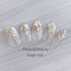 Subtle Nails, Shiny Nails, Bridal Nails, Wedding Nails, Japan Nail Art, Belle Nails, Asian Nails, Japanese Nails, Minimalist Nails
