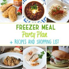 Throw a Freezer Meal Party for a fun and productive night with friends! Save time and money, all while putting together six healthy prepared meals for the freezer! Healthy Prepared Meals, Healthy Freezer Meals, Make Ahead Meals, Freezer Cooking, Batch Cooking, Crockpot Meals, Healthy Dinners, Real Food Recipes, Cooking Recipes