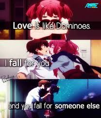 Image result for love is like dominoes i fall for you