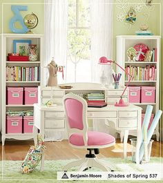 Love the pink and green color palette.