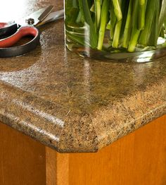 Countertop Creativity: granite laminate countertops, great way to get a good look with less money