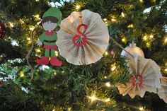 Book page accordian pleat ornaments