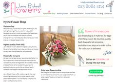 Website Design with online flower shop for local florist by Focal Strategy Website Design, Hythe, Southampton, Hampshire