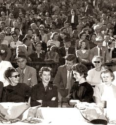 Jack, Jackie Kennedy and Eunice Kennedy Shriver attended the Pittsburgh game at Notre Dame Stadium on 17 October 1953, a game Notre Dame won 24-14.