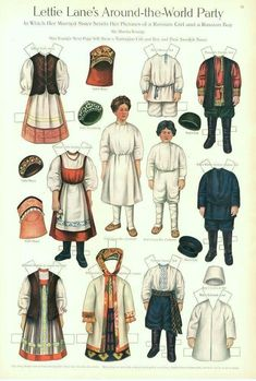 Lettie Lane's Around the World Party: French Girl  paper doll  1911  Artist:  Sheila Young. Description from pinterest.com. I searched for this on bing.com/images