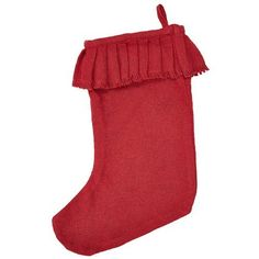 "=> Get more discounts! Click the pin: Red Burlap Ruffled Stocking 11x15"" at Christmas Home Decor ."