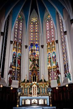 """Saint Joseph Roman Catholic Church, founded in 1855, is a historic German Catholic parish with a landmark church. The building is on the National Register of Historic Places and deemed 'of national importance' because of its stained glass."" - Wikipedia"