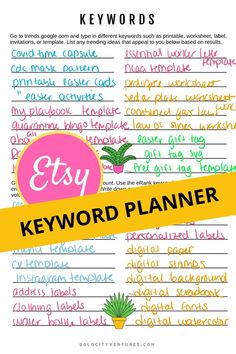 The printable planner for starting a printables business. Over worksheets and guidance on starting a printables shop. Etsy Business, Craft Business, Online Business, Business Planning, Business Tips, Etsy Seo, Keyword Planner, Police, Sell On Etsy