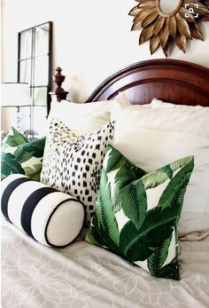 Animal print with leave and stripe combo