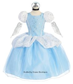This+beautiful+Cinderella+costume+is+meant+for+only+the+prettiest+of+princesses!+  Costume+includes+a+dazzling+blue+and+white+dress+with+back+closure,+attached+petticoat,+matching+headpiece,+choker+and+gloves.+5-piece+set.  (Size+2t+will+be+back+in+stock+later+next+week)  Available+toddler+sizes:...