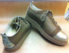 Zelfgemaakte schoenen #goud