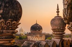 The Qutub Shahi Tombs in Hyderabad, India
