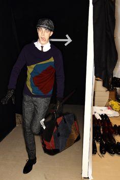 James Smith backstage @ Burberry Prorsum Fall/Winter 2012 Menswear by Sonny Vandevelde