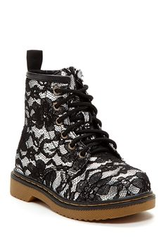 Lace Combat Boot (Toddler & Little Kid)