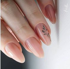 Minimalist Nails, Best Acrylic Nails, Acrylic Nail Designs, Romantic Nails, Natural Nail Designs, Gel Nagel Design, Dope Nails, 3d Nails, Dream Nails