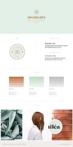 Photography Branding Kit — Stylish Branding Kit — Premade Logo Design — Copper & Mint — Logo + Water