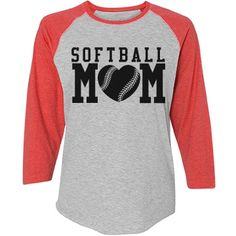 You Design Softball Mom Jerseys  | Sports Mom shirts! Know a softball mom who would like a custom baseball jersey to wear to all the softball games this spring and summer? You can even put a name and number on the back to make it really special. Great idea for a Mother's Day gift. HOMERUN! #softballmom #mothersdaygifts