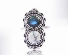 Boho Rings in Sterling Silver Bohemian Rings by DonBiuSilver