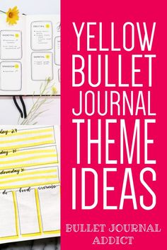 Bullet Journal Themes In Yellow - Bullet Journal Inspiration For Yellow Themes - Yellow Bullet Journal Theme Ideas #yellow #yellowtheme #yellowbujo #bujoyellow #bujo #bulletjournal #bujolove #bujoinspo #bujospreads #bujomonthly #bujocoverpage #bujotheme #bujoideas Bullet Journal Quotes, Journal Fonts, Bullet Journal Themes, Bullet Journal Spread, Bullet Journal Inspiration, Journal Ideas, Lemon Quotes, Small Doodle, Easy Doodles