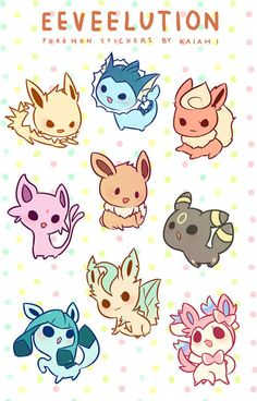 Eeveelution - This is adorable!!!! @Charity Scantlebury Scantlebury Scantlebury Oesch