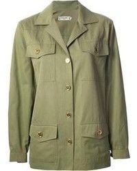 0f774d26d Chaqueta militar verde oliva Chaquetas Militares Verdes, Tenis Dorados,  Chaqueta Militar, Moda Para