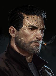 ArtStation - Character Portraits, Salvador Trakal Cyberpunk 2077, Character Portraits, Character Art, Character Inspiration, Star Wars Rpg, Science Fiction, Shadowrun, Cyberpunk Character, Sci Fi Characters