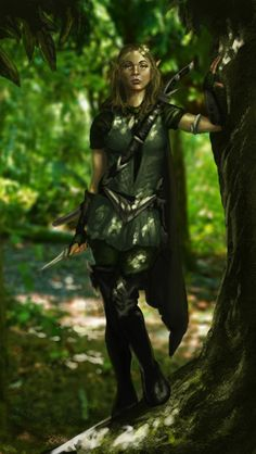 Elf Warrior girl, freelance work Elf Warrior v 1 Elf Warrior, Warrior Girl, Warrior Women, Elf Characters, Fantasy Characters, Fantasy Figures, Fantasy Rpg, Medieval Fantasy, Elf Ranger