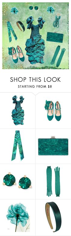 """""""80s dance"""" by rachel-hack-1 ❤ liked on Polyvore featuring Azzaro, Rochas, Pig, Chicken & Cow, Edie Parker and Kate Spade"""