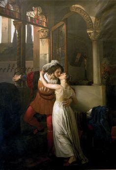 Francesco Hayez - L'ultimo bacio dato a Giulietta da Romeo (1823)