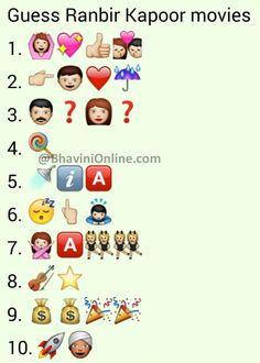 Emoji Quiz, Emoji Games, Kitty Party Games, Cat Party, Ranbir Kapoor, Shraddha Kapoor, Priyanka Chopra, Deepika Padukone, Guess The Emoji Answers