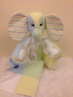 memory teddy made with baby clothing