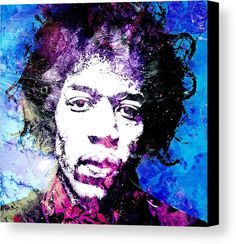American Canvas Print featuring the painting Jimi 2 by Otis Porritt