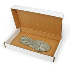 Store your footwear and tire track casts in a sturdy storage box.