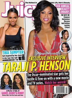 Taraji P. Henson, Tika Sumpter, Gabrielle Union and Kerry Washington cover September/October 2014 issue of Juicy Magazine