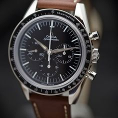 """OMEGA Speedmaster """"First Omega In Space"""" 1962 - BaselWorld 2012. The remake of the Speedmaster CK2998 as worn by NASA's Wally Schirra in 1962."""
