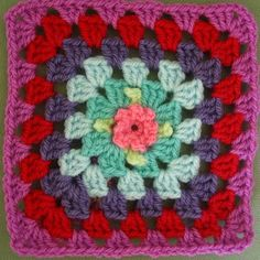 Sweet Flower Granny Blanket by Attic 24