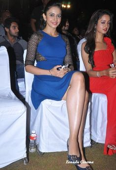 Rakul Preet Singh Latest Hot and Cute Photos in Blue Dress