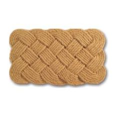 @Overstock - Constructed of natural coir, this door mat features an intricate woven pattern. The rope texture adds interest and beauty to this door mat.http://www.overstock.com/Home-Garden/Rope-Coir-Braided-Door-Mat-30-x-18/5530517/product.html?CID=214117 $25.04