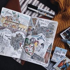 31 Ideas art inspiration ideas sketches creative journal pages for 2019 Travel Sketchbook, Arte Sketchbook, Kunstjournal Inspiration, Bullet Journal Inspiration, Scrapbook Journal, Travel Scrapbook, Sketch Journal, Art Journal Pages, Art Journals