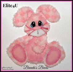 ELITE4U BRENDA BUNNY TEAR BEAR PAPER PIECE PREMADE SCRAPBOOK PAGES CARD ALBUM