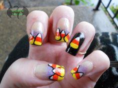 Candy Corn Halloween by Drafeara - Nail Art Gallery nailartgallery.nailsmag.com by Nails Magazine www.nailsmag.com #nailart