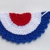 Found pattern on Craftsy FREE Patriotic Bunting - via @Craftsy
