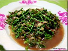 fiddle head ferns with garlic and shallots