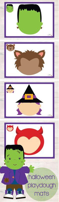 Halloween playdough mats for some spooky fun this Halloween! #halloween #busylittlebugs #printables