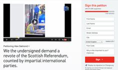 This petition demanding a revote of the referendum has attracted a huge number of signatures since the result was confirmed. | Thousands Of People Are Calling For A Revote Of The Scottish Referendum