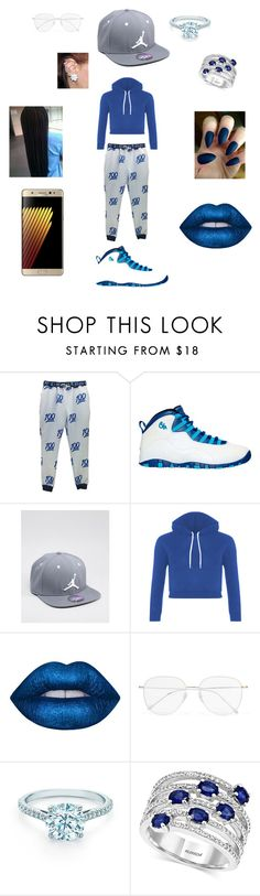"""""""Blue Diva!!!"""" by asyacooper ❤ liked on Polyvore featuring beauty, NIKE, Jordan Brand, Prism, Tiffany & Co. and Effy Jewelry"""