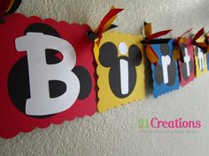 Mickey Mouse Birthday Banner by 21Creations on Etsy