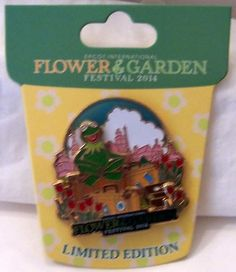 Disney Epcot Flower & Garden Festival 2014 Limited Edition 5000 Kermit Pin New $34.99