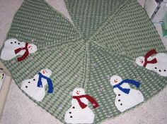 Snowman Tree Skirt Free Crochet Pattern More